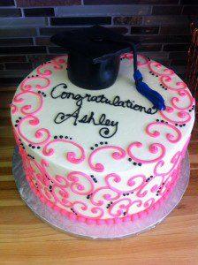 cold stone graduation cake