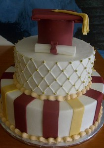 h-e-b graduation cake