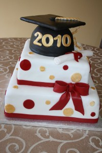 market basket graduation cake
