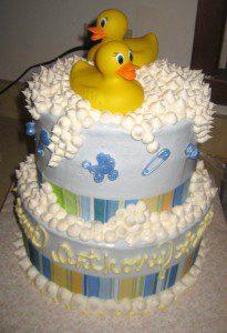 baby shower baskin robbins cake