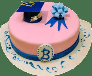 graduation baskin robbins cake