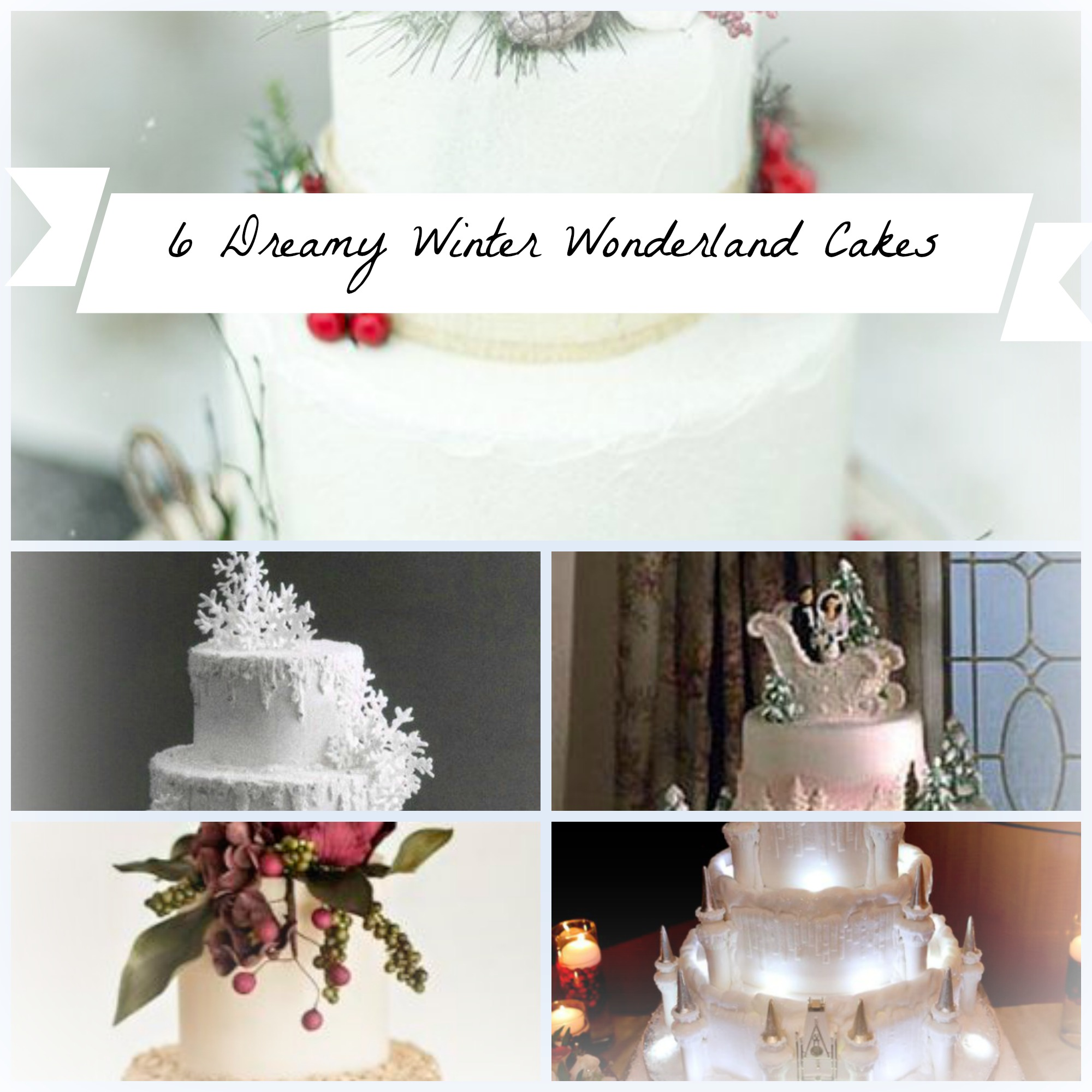 These 6 Super Dreamy Winter Wonderland Wedding Cakes Are Shaking Up The Baking World!