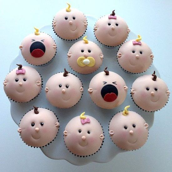 Imagine These Cupcakes At Your Next Baby Shower…