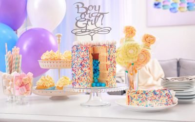 Using Gender Reveal Cakes for the Big Surprise