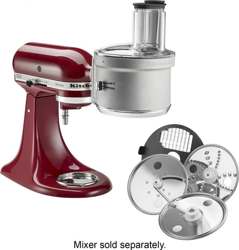 baking tools can include a kitchenaid mixer, shown here in red with the optional food processor attachment, not pictured, dough hook