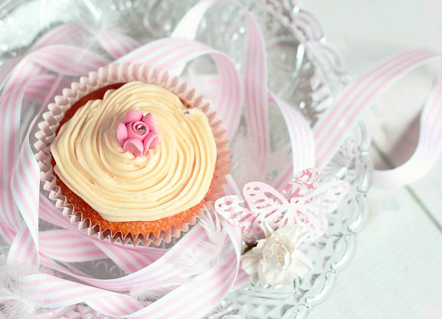 A cupcake is the perfect single-serving sized Mothers Day cake.