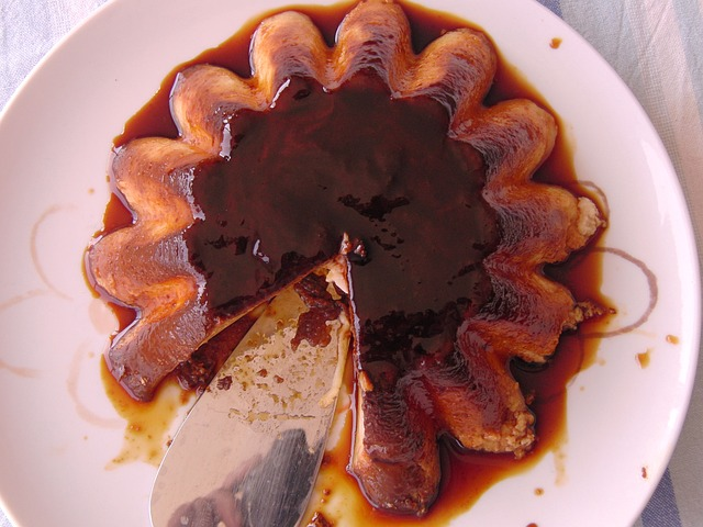 Mothers day cake- flan cake topped with caramelized sugar syrup
