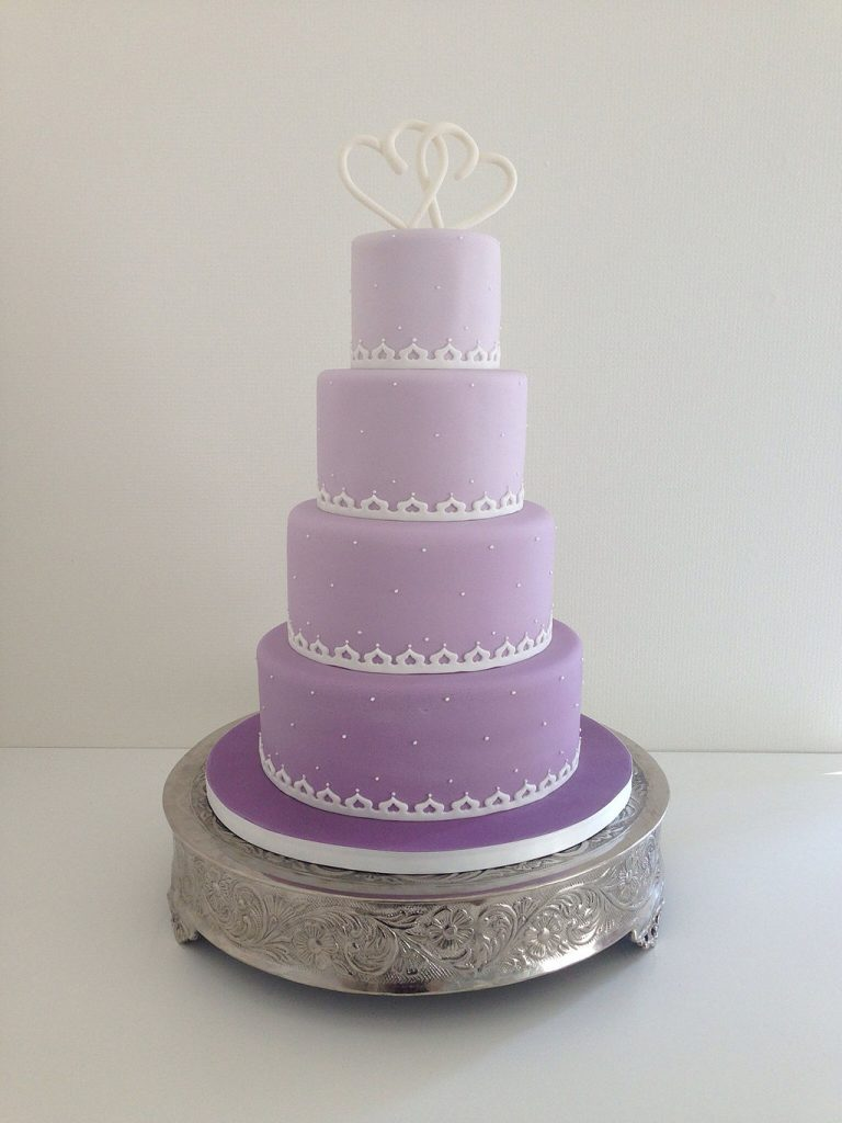 A lavender wedding cake