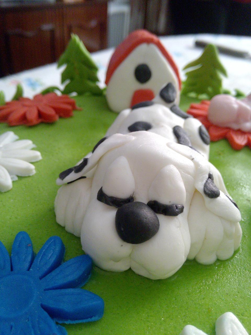 dog shape Paw patrol cake