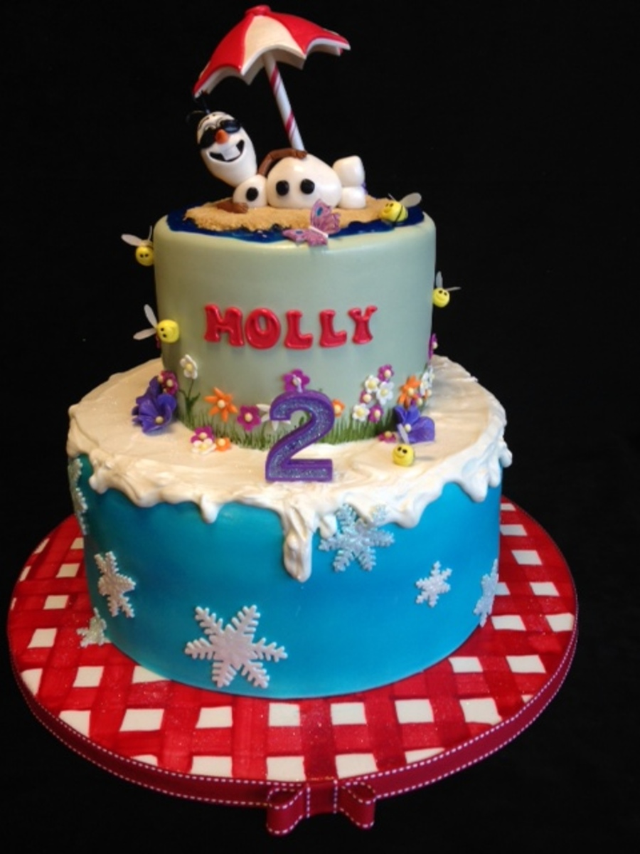 Frozen Cakes with Anna, Elsa, and Olaf in Summer