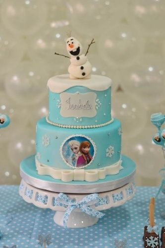 Multi-Tiered Frozen Character Cake