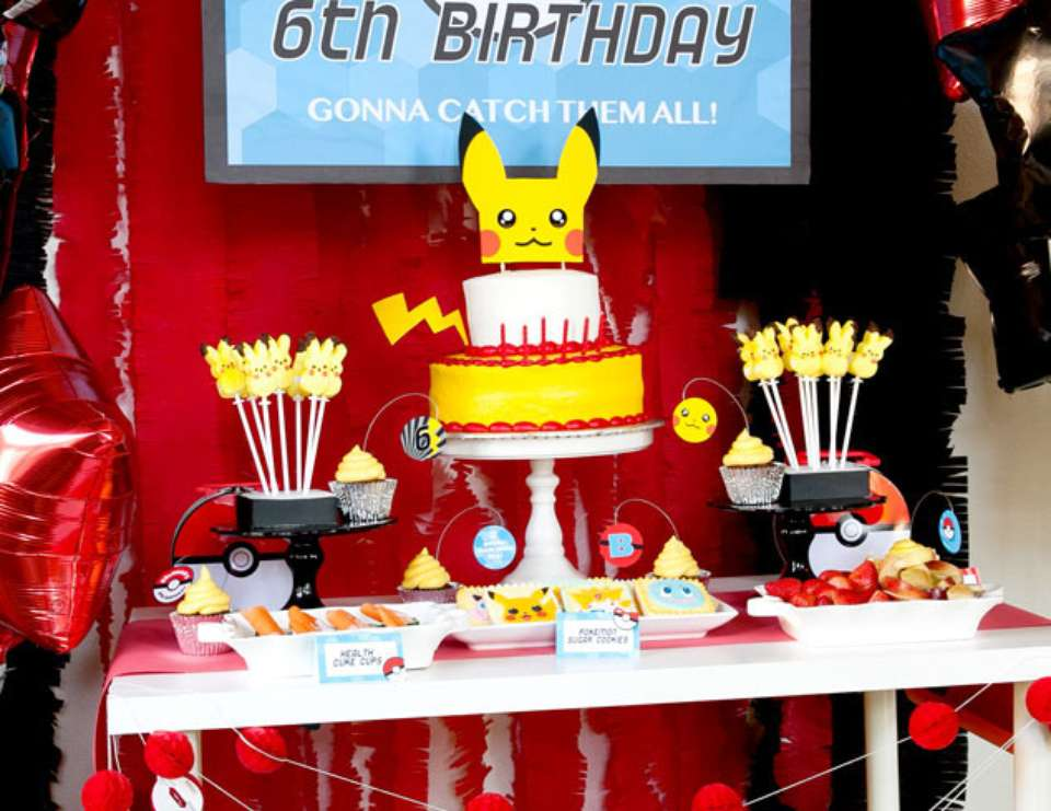 Pokémon-Themed Birthday Party to Impress the Ages