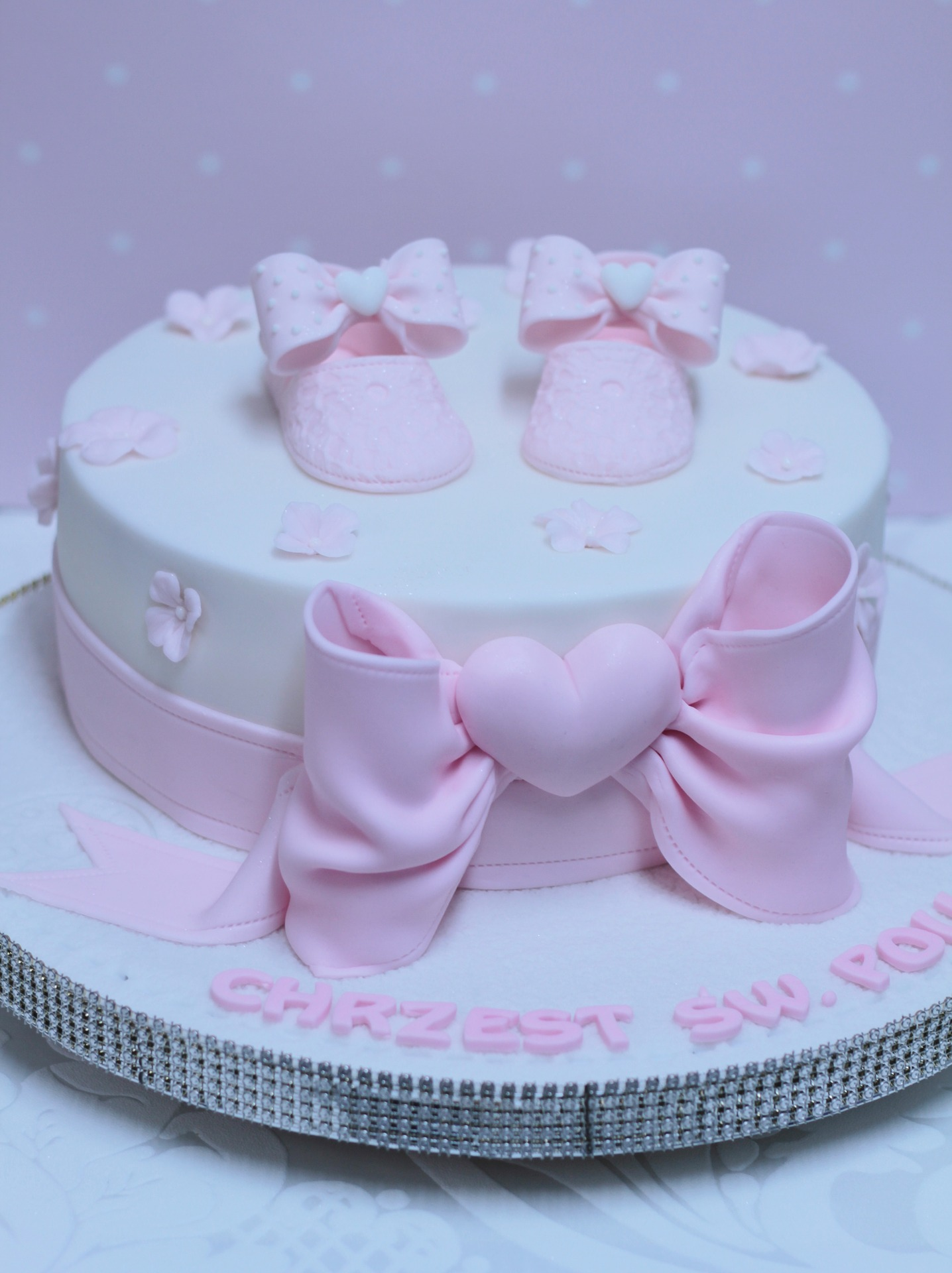 pink cake for baby