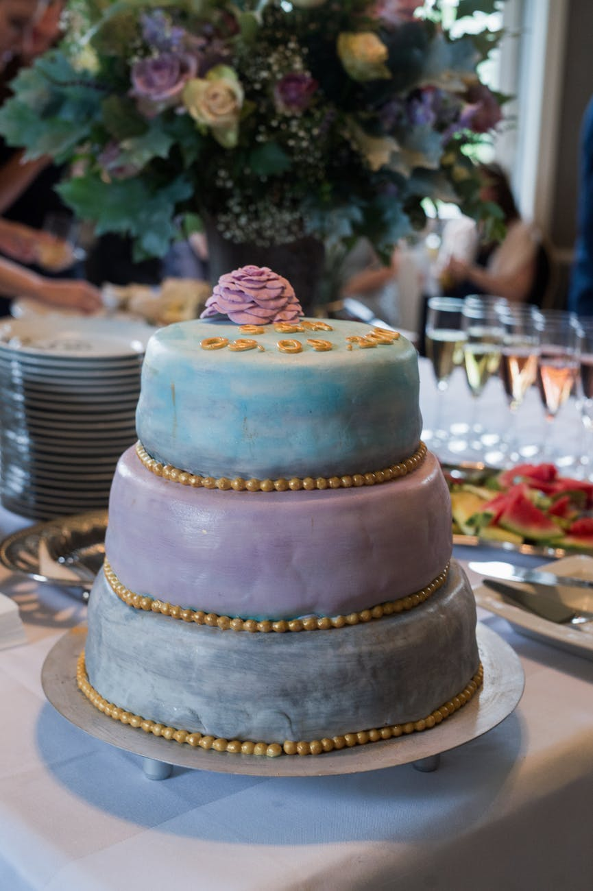 Three-layered Cake on the Table